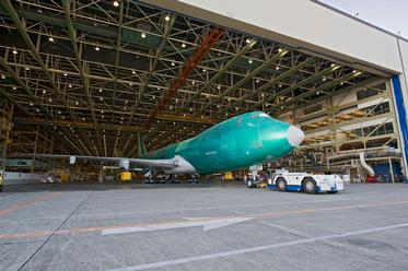 Boeing 747-8 Freighter Exits Assembly Line