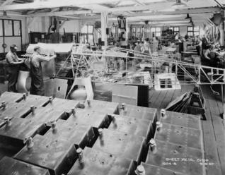 Boeing sheet metal shop in 1927