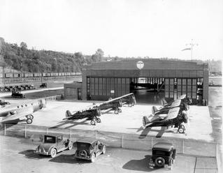 Boeing Hangar at Boeing Field, October 1931