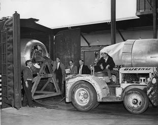 Boeing Takes Delivery of Last Piston Engine- June 6, 1956