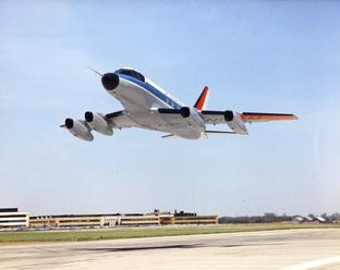 McDonnell Model 119 Taking Off from St. Louis, MO