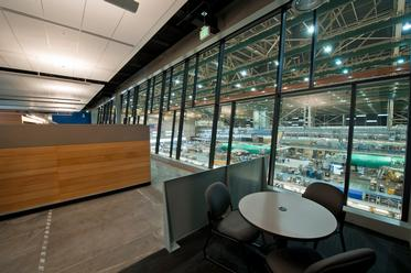 Office Overlooking 737 Assembly Line, 2013